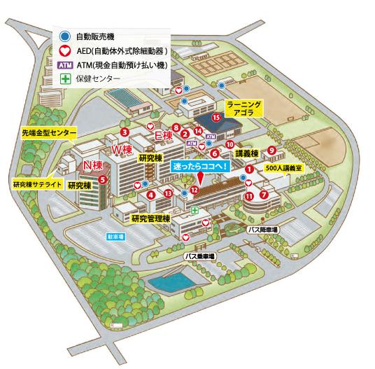 オープンキャンパス学内ツアーマップ