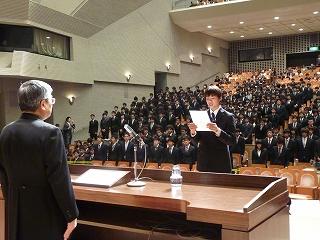 情報工学部新入生代表宣誓